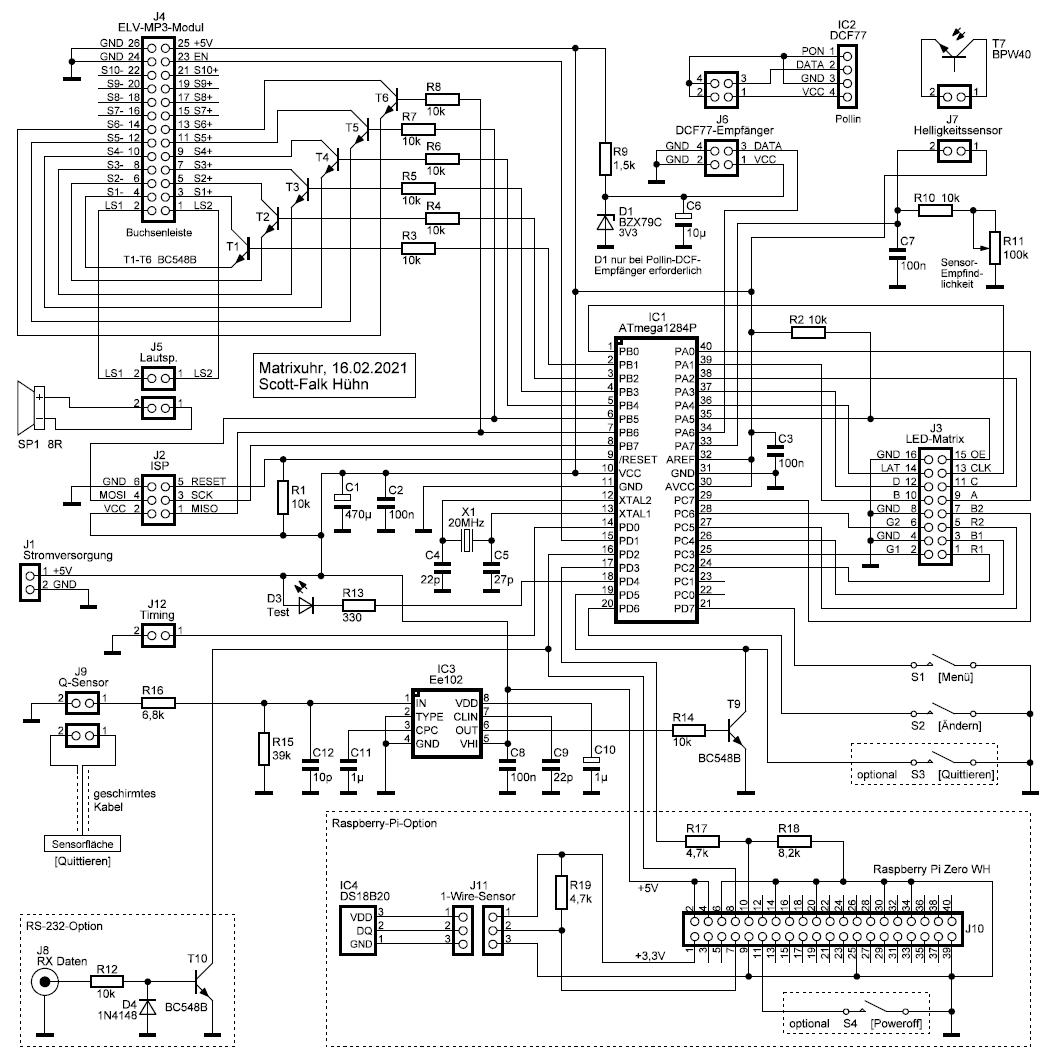 Elektronik-Projekte - Matrixuhr